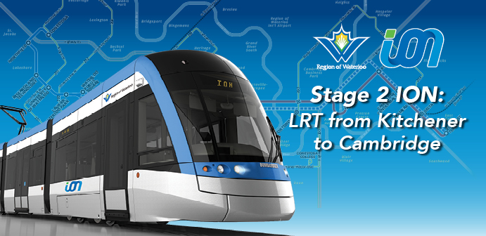 LRV with words stage 2 ION: LRT from Kitchener to Cambridge