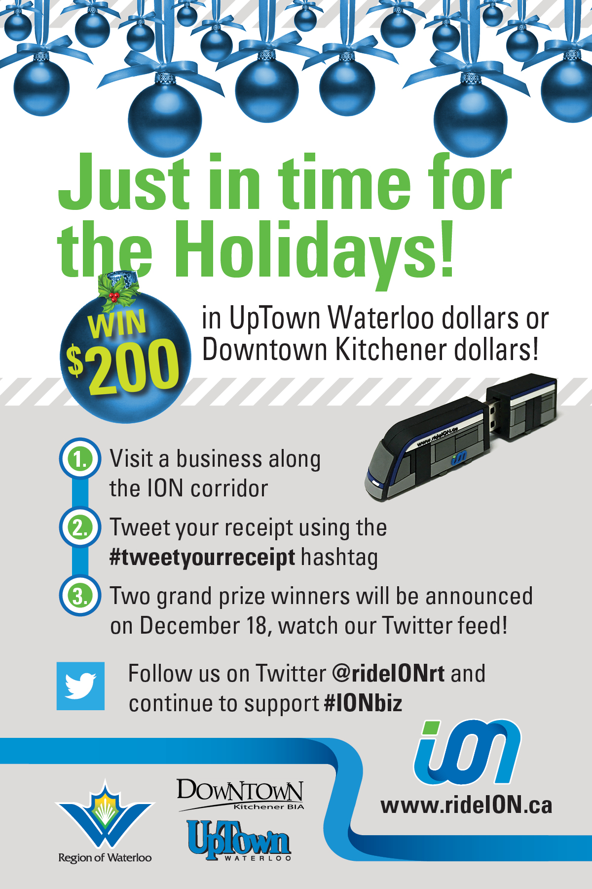 win $200 uptown waterloo dollars or downtown kitchener dollars