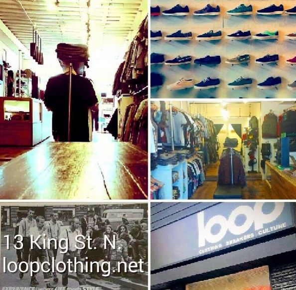photo of products available from loop clothing store